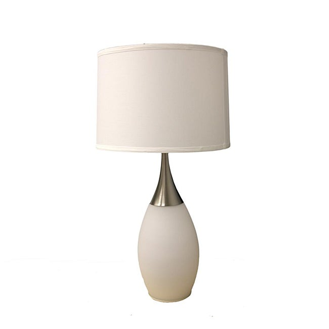 White 28-inch High Modern Table Lamp