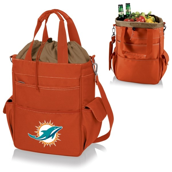 Picnic Time Activo-Orange Tote (Miami Dolphins)