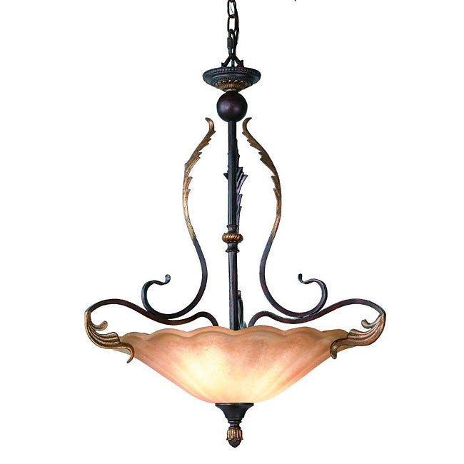 Woodbridge Lighting Ashley 3-light Bordeaux Pendant