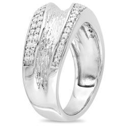 M by Miadora Sterling Silver 1/4ct TDW Diamond Ring