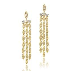 Icz Stonez 14k Yellow Goldplated Cubic Zirconia Chandelier Earrings