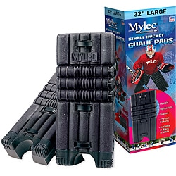 Mylec 27-inch Black Durable Goalie Pads with Four-inch Foam Padding
