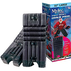Mylec 32-inch Black Lightweight Polyethylene-covered Foam Goalie Pads