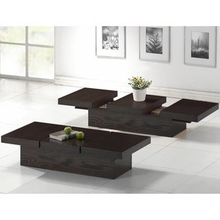 Cambridge Dark Brown Wood Modern Coffee Table