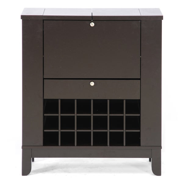 Baxton Studio Modesto Brown Modern Dry Bar and Wine Cabinet