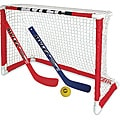 Mylec Pro-style Mini Hockey Goal Set with Two Sticks and Ball