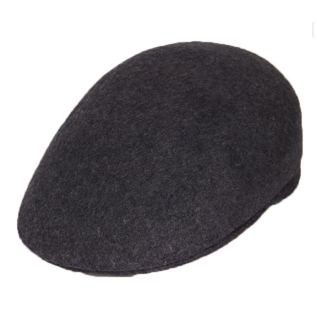 Ferrecci Men's Dark Grey Wool Cap