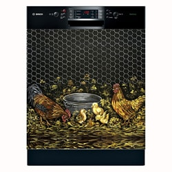Appliance Art 'Rooster and Family' Dishwasher Cover