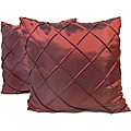 Dior Red Stitched Diamond Decorative Pillows (Set of 2)