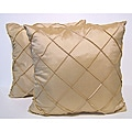 Dior Ivory Stitched Diamond Decorative Pillows (Set of 2)