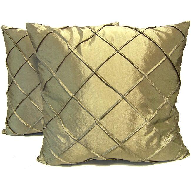 Dior Sage Stitched Diamond Decorative Pillows (Set of 2)