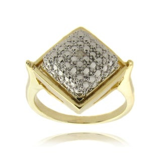 Remove Fusion Finesque Fusion 14-karat Gold Overlay with Genuine Diamond Accent Square Ring