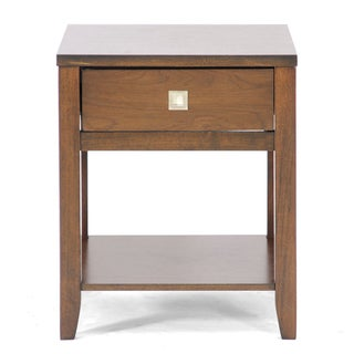 New Jersey Brown Wood Modern End Table