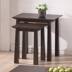 Havana Brown Wood Modern Nesting Table Set