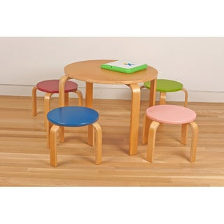 Kid's Table and Four Stool Set