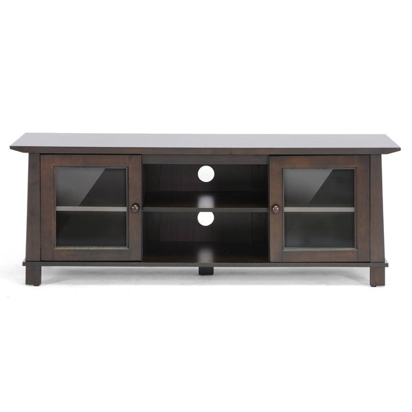 Havana Brown Wood Modern TV Stand