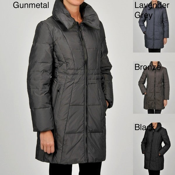 Anne Klein Women's 3/4-length Quilted Down Coat