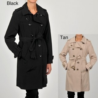 London Fog Women's Double-breasted Trench Coat