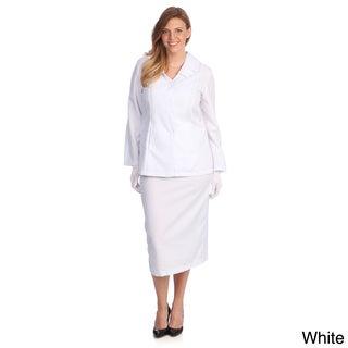 Divine Apparel Women's Plus Size Classic Fashion Skirt Suit