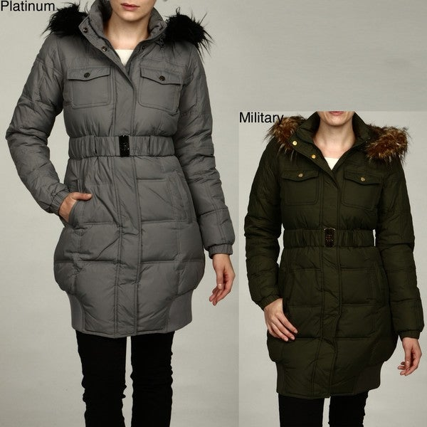 Sean John Women's Faux-fur Removable Hood Coat FINAL SALE