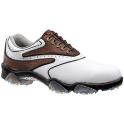 FootJoy Men's SYNR-G Brown/ White Golf Shoes
