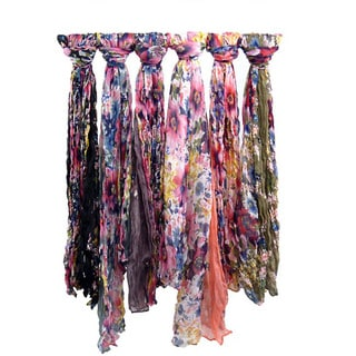 Classic Floral Print Scarf