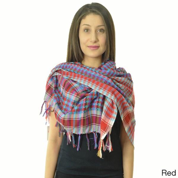 Checkered Crochet Scarf