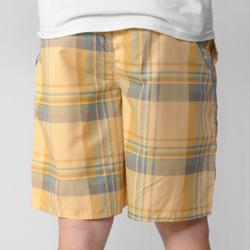Island Joe Men's Yellow Plaid Print Swim Shorts