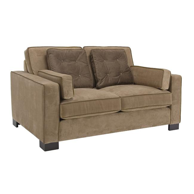 Tuscany Camel Fabric Velvet Loveseat Overstock Shopping Great Deals On Sofas Loveseats