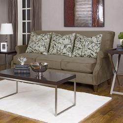 Vernoa Taupe Fabric Velvet Sofa