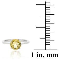 Glitzy Rocks Sterling Silver 1 1/5ct TGW Citrine Solitaire Ring