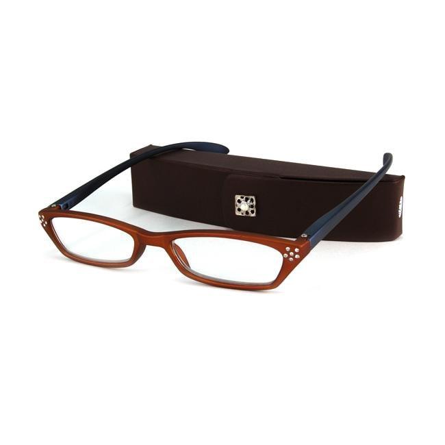 Urban Eyes Women's Crystal Amber Reading Glasses