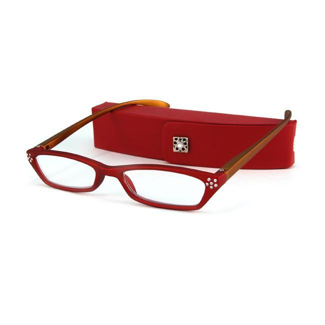 Urban Eyes Women's Crystal Red Reading Glasses