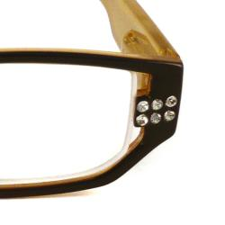 Urban Eyes Women's Crystal Butterscotch Reading Glasses