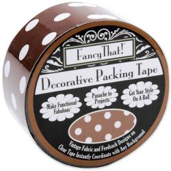 Fancy That Brown Polka Dot 25-yard Roll Decorative Packing Tape