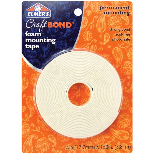 Elmer's Permanent 0.5x150-in Foam Mounting Tape