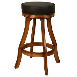 Desota 30-inch Vintage Oak Swivel Bar Stool