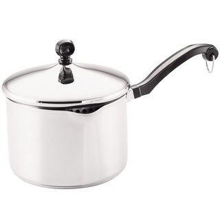 Farberware Classic Series 3-quart Covered Straining Saucepan, Stainless Steel