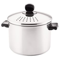 Farberware Classic Series 8-quart Covered Straining Stockpot, Stainless Steel