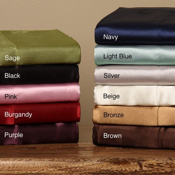 Silky Satin Queen-size 4-piece Satin Sheet Set (As Is Item)