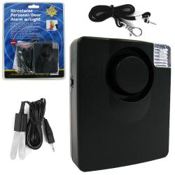 Streetwise 130-dB Personal and Door Alarm with Flashing Light