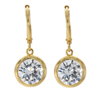 NEXTE Jewelry Goldtone Cubic Zirconia Solitaire Earrings