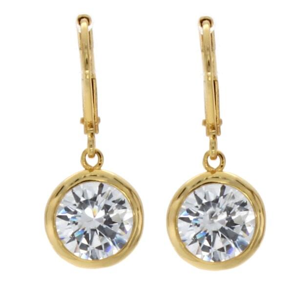 NEXTE Jewelry Goldtone Cubic Zirconia Solitaire Earrings