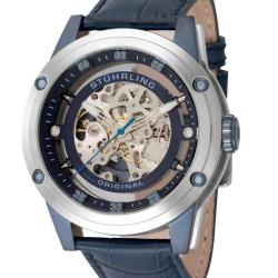 Stuhrling Original Men's Zeppelin 360 Automatic Skeleton Watch