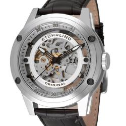 Stuhrling Original Men's Zeppelin 360 Automatic Skeleton Stainless-Steel Watch