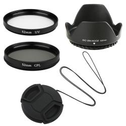 Lens Hood/ Lens Cap/ CPL Filter/ UV Filter for Nikon D3000/ D3100