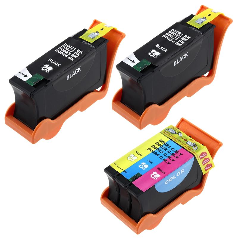 INSTEN Color/ Black Ink Cartridge for Dell 24/ V515W (Pack of 3)
