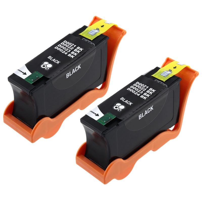 INSTEN Black Ink Cartridge for Dell 24/ V313/ V313W (Pack of 2)