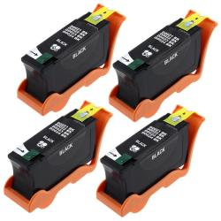 Black Ink Cartridge for Dell 24/ V313/ 313W (Pack of 4)