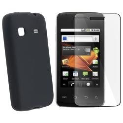 Black Skin Case/ Screen Protector for Samsung Galaxy Prevail SPH-M820
